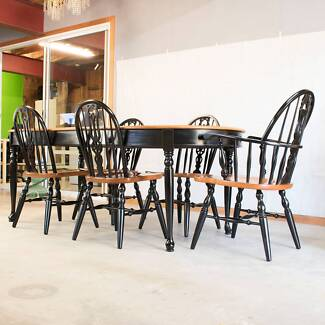 Restored Extendable Dining Table Chairs