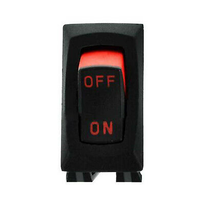 111997 Power Switch Rocker Spst 10a 250vac On-off Visi Red Rock For Miller
