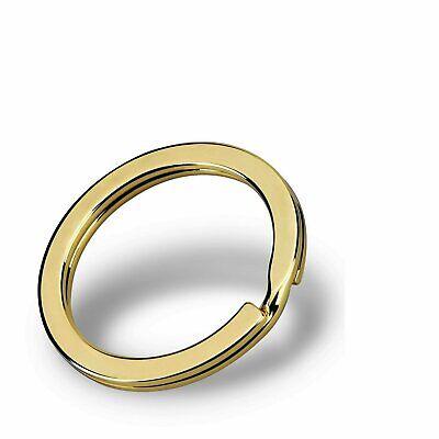 3 Pieces Round Flat Key Chain Rings Metal Split Ring