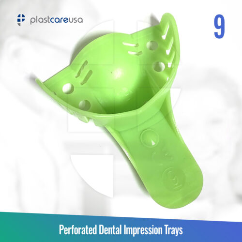 Autoclave Perforated Dental Impression Trays, #9 Anterior Upper (Bag of 12)