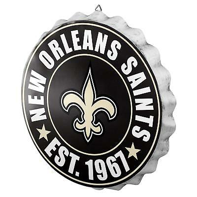 New Orleans Saints Bottle Cap Sign - Est 1967 - Room Bar Decor NEW 13.5