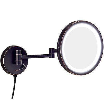 GURUN 5X Magnifying Lighted Vanity Wall Mount Makeup Mirror