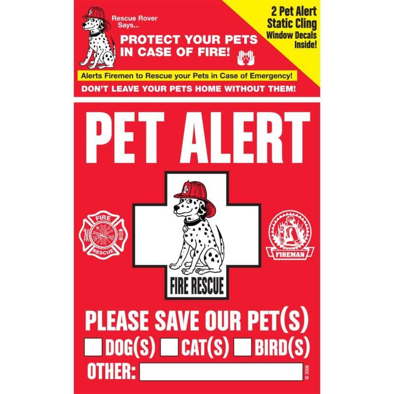 """RESCUE ROVER"" Pet Alert  Decals - 100 PACKS"