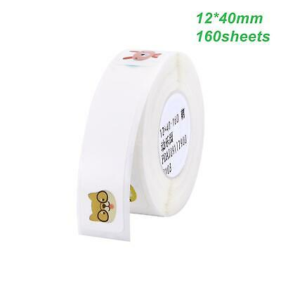 Thermal Paper Label Sticker Printing Waterproof Tear Resistant 12x40mm Animal Us