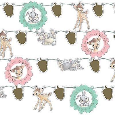 Disney Bambi Süß Party Girlande Wimpel 1st Geburtstag Baby Dusche Dekoration