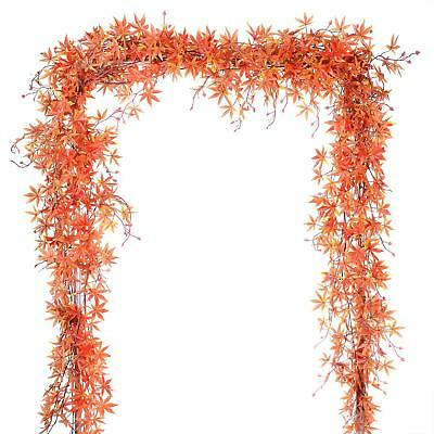 Fall Leaf Garland (1 Pack Fall Maple Leaf Garland Decoration Plant Wall Hanging for)