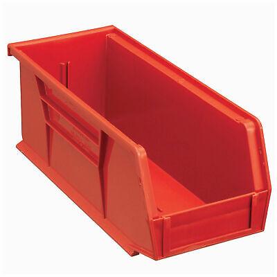 Plastic Storage Bin 4-18 X 10-78 X 4 Red Lot Of 12