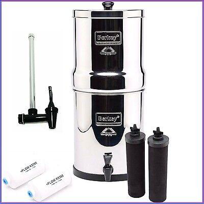 Royal Berkey Water Screen w 2 Black & 2 PF2 Filters plus Water Level Spigot