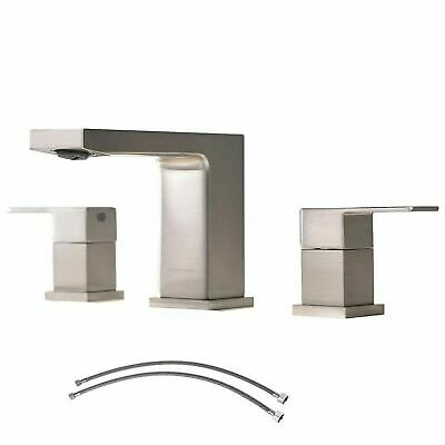 VCCUCINE Best Commercial 3 Holes Two Handles Lavatory Vanity Sink Widespread