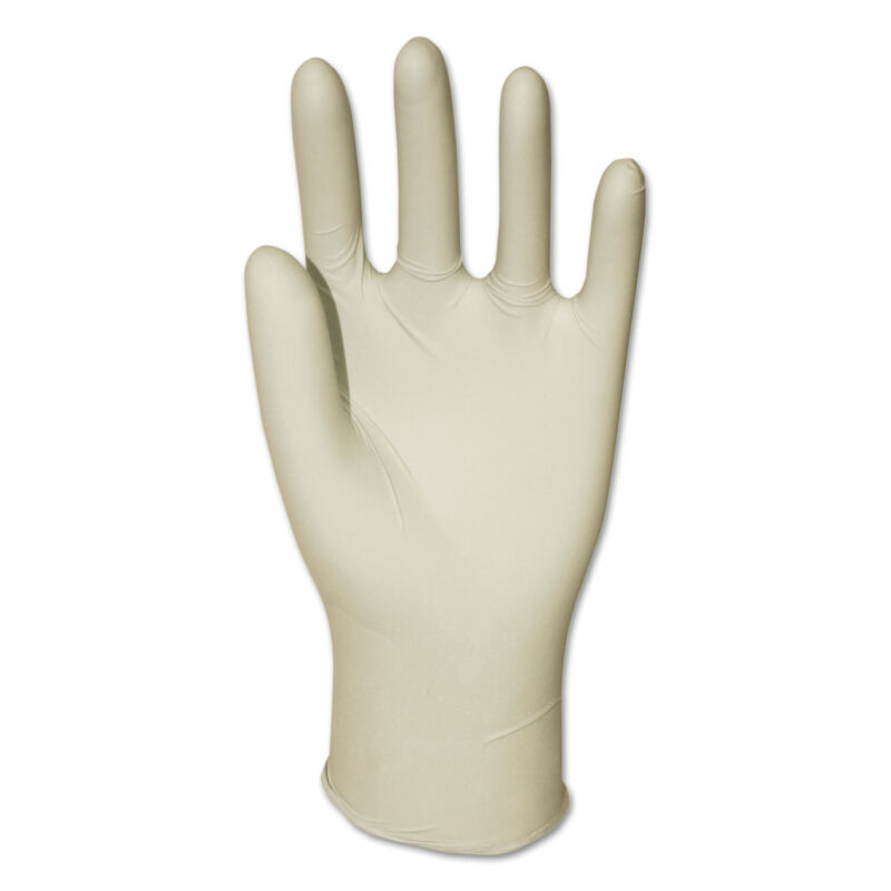 GENERAL SUPPLY Latex General-Purpose Gloves Powder-Free Natural Large 4.4 mil