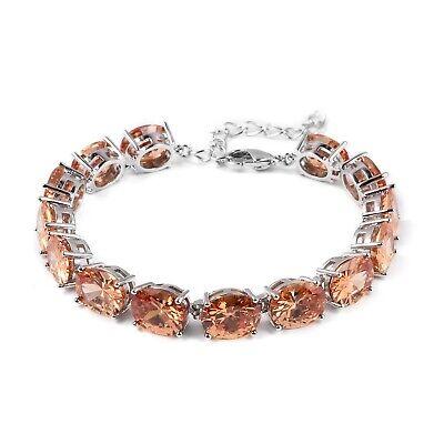 Cubic Zirconia CZ Champagne Solitaire Tennis Bracelet Gift f