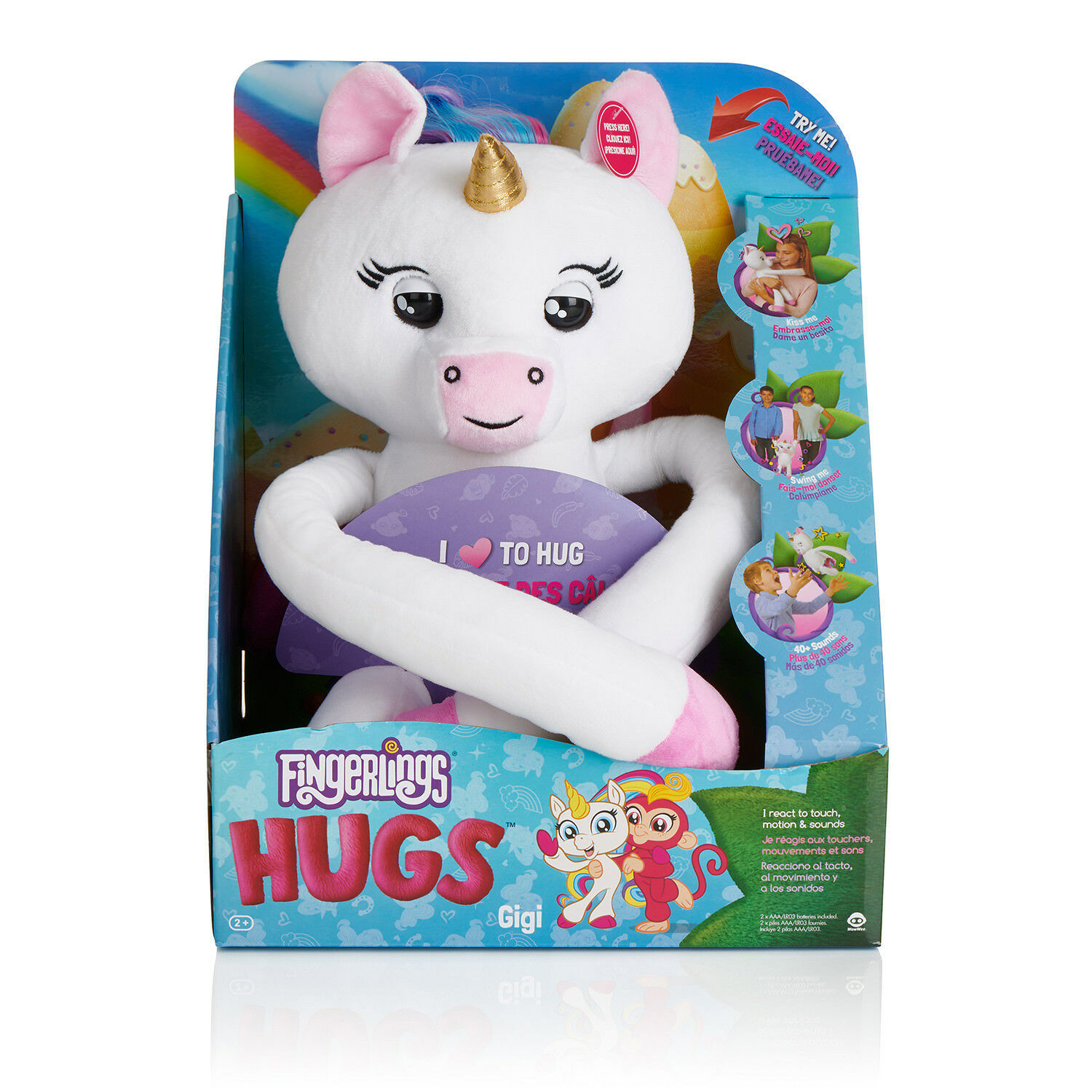 WowWee Fingerlings HUGS Gigi White Advanced Interactive Plus