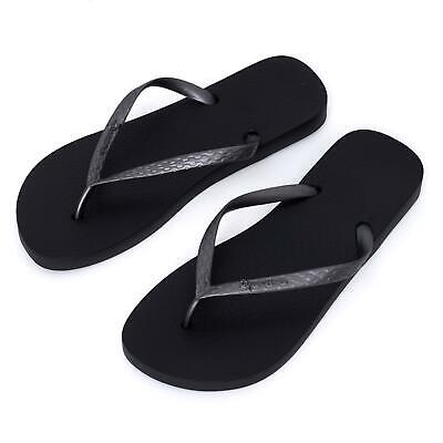 New Ipanema Women Holiday flipflops Sandals Brazil Beach Black Silver Strap