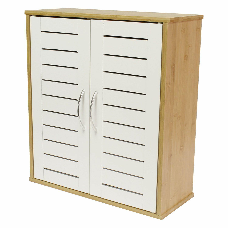 Wall Mounted Bamboo Bathroom Cabinet
