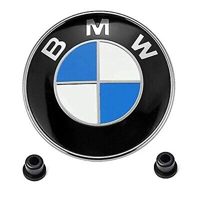 BMW Emblems Hood/Trunk BMW 82mm Logo Replacement with 2 Grommets for ALL Models