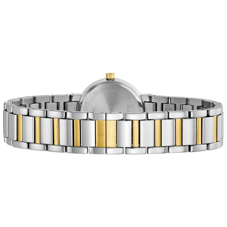 Bulova Futuro Women's Quartz Diamond Accents Two-Tone Bracelet 26mm Watch 98P157