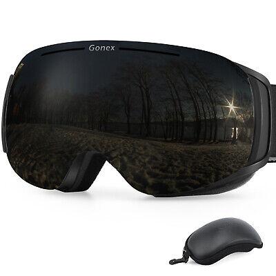 Winter Ski Snowboard Goggles OTG Frameless Goggles & Free Case Large Size