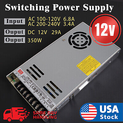 Mean Well Lrs-350-12 350w 12v 29a Output Switching Power Supply 110220 V Input