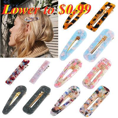 Fashion Women's Hair Slide Clips Snap Barrette Hairpin Pins Hair (Women Fashion Accessories)