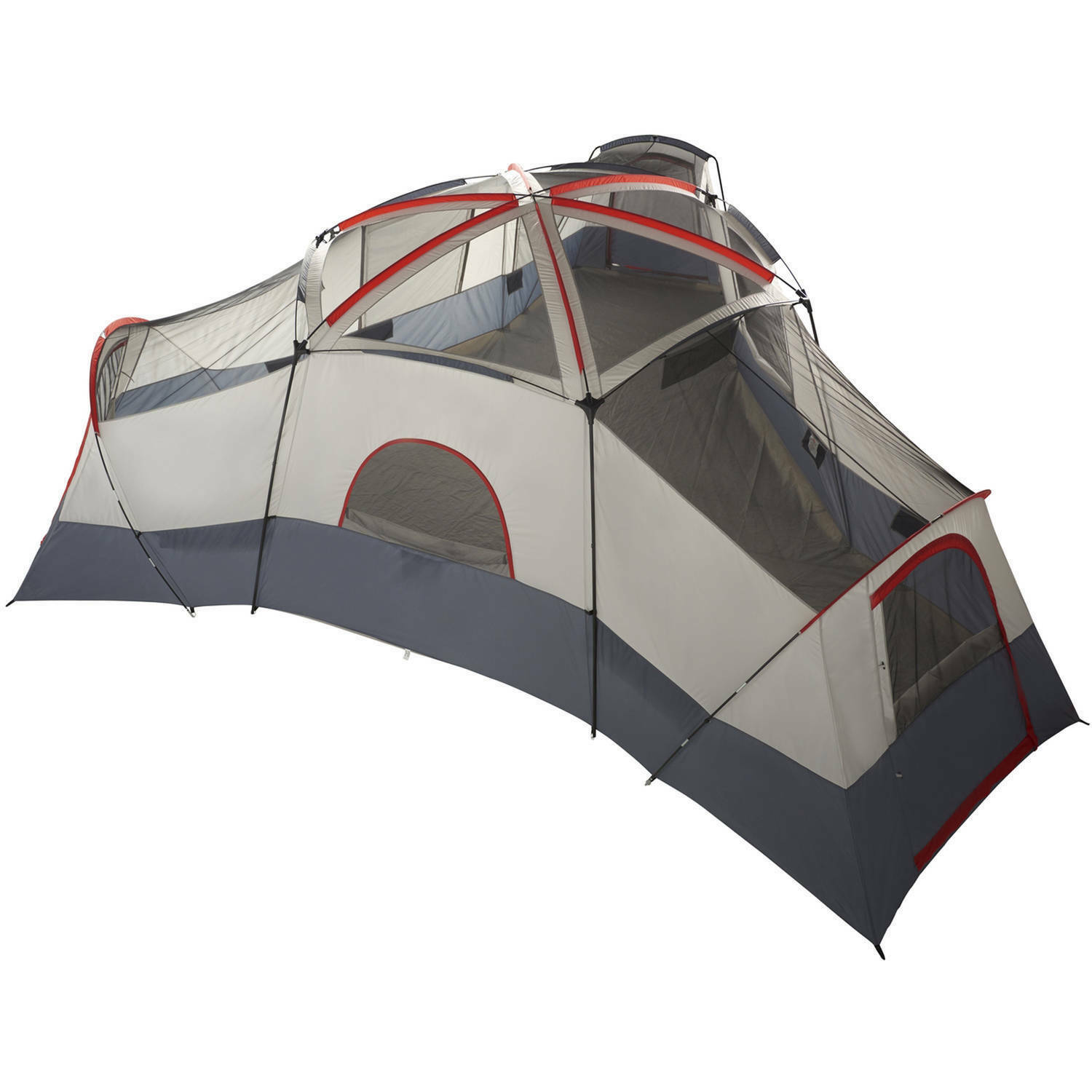 Details about Ozark Trail 20 Person 4 Room Cabin Tent with 4 Separate Entrances for Camping
