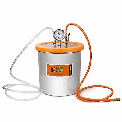 Bacoeng 3 Gallon Stainless Steel Resin Trap Vacuum Degassing Chamber