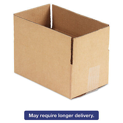 General Supply Brown Corrugated - Fixed-depth Shipping Boxes 10l X 6w X 4h 25