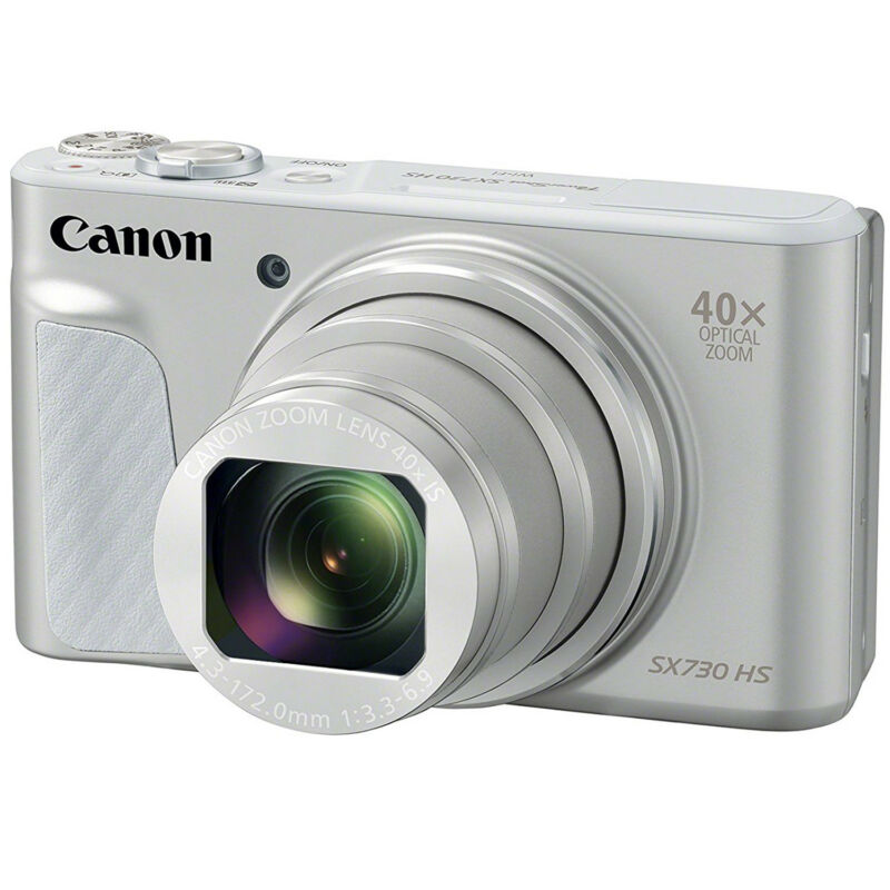 Canon PowerShot SX730 HS 20.3-Megapixel Digital Camera Silver 1792C001