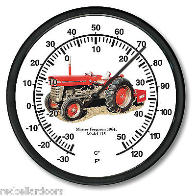 New 1964 Massey Ferguson 10 Round Thermometer Model 135 Farm Tractor Soil