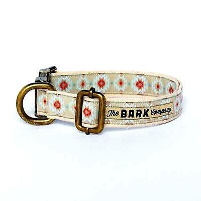 Halsband und Leine für Hund Baumwolle Geschirr Metall The Bark