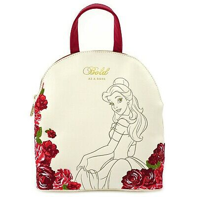 Loungefly Beauty and the Beast Belle Rose Faux Leather Mini Backpack