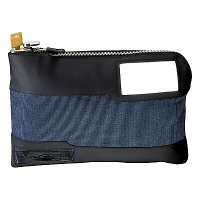 Master Lock 7120D Money Bag with Key Lock 11-1/2 In. Long, Blue 1 Pack