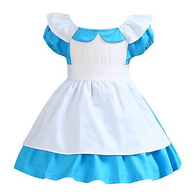 Alice in Wonderland Toddler Baby Girl Princess Tutu Dress Party Costume ZG8 - Alice In Wonderland Baby Costume
