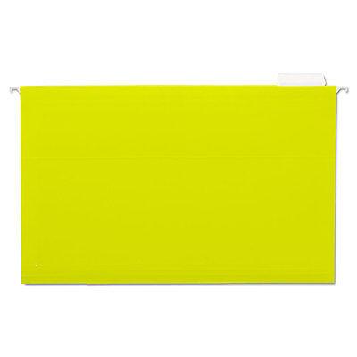 Universal Hanging File Folders 15 Tab 11 Point Stock Legal Yellow 25box 14219