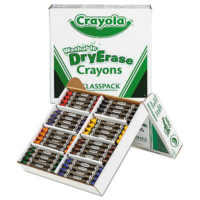 Crayola Washable Dry Erase Crayons Classpack Assorted Col...