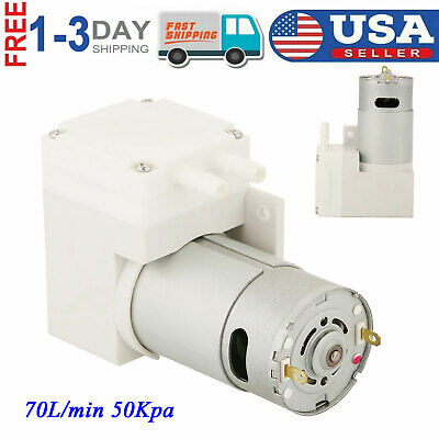 Dc 12v Mini Noiseless Vacuum Pump Negative Pressure Suction Pump 7lmin 50kpa