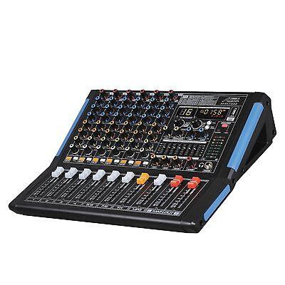 - Audio2000s AMX7333 8-Ch.Audio Mixer Sound Board with USB & Bluetooth-MR