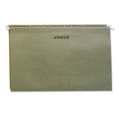 Universal One Inch Box Bottom Pressboard Hanging Folder Legal Standard Green 25