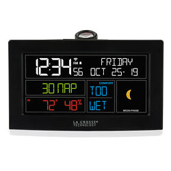 C82929 La Crosse Technology Projection Alarm Clock with LTV-TH2 - Refurbished