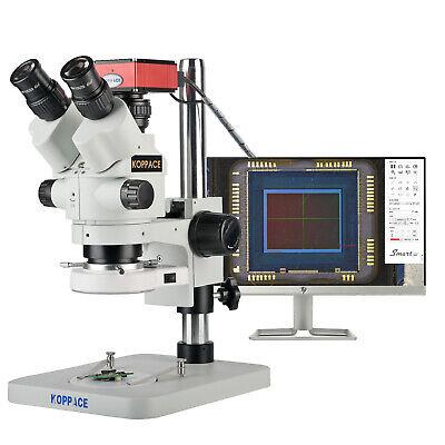 Koppace 3.5x-180xhd Trinocular Stereo Measuring Microscopetake Picturesvideos