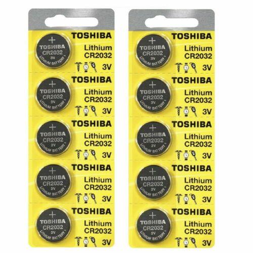 10 x New Original Toshiba CR2032 CR 2032 3V LITHIUM BATTERY BR2032 DL2032 Remote