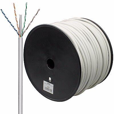 100m CAT 6 Netzwerk Kabel Verlegekabel LAN Gigabit 4x2xAWG23/1 S/FTP 2xgeschirmt