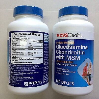 2 Pack - Glucosamine Chondroitin With MSM - x 120 Tablets EXP 2020