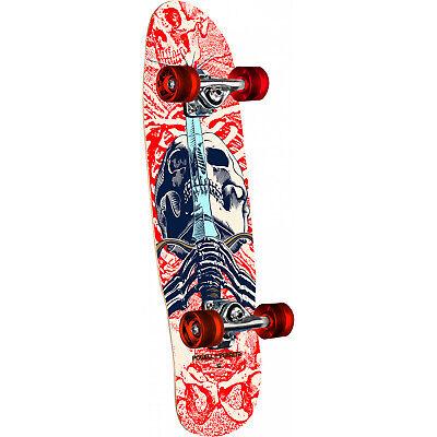 "Powell Peralta Skateboard Complete Mini Skull and Sword White 8.0"" x 30"""