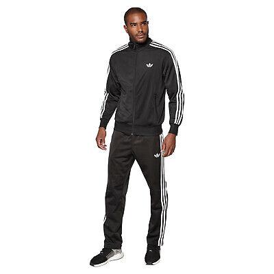 Adidas Originals Hombre Talla Pequeña S Firebird Chándal Completo Chaqueta Negra