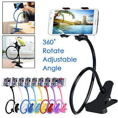 360° Rotating Flexible Long Arm Lazy Neck Mobile Clip Mount Holder For iPhone