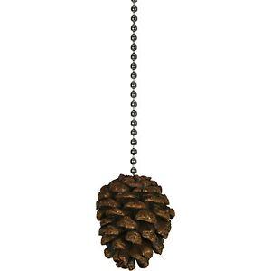 Decorative ceiling fan pull chains ebay pine cone ceiling fan pull chain pinecone lamp light cabin lodge decor aloadofball Gallery