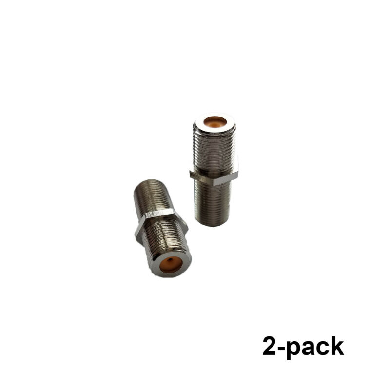 2 Barrel Connectors Directv F81 Barrel 3ghz Hf Perfect Vision Dtvf81i-05 At&t