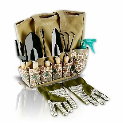 Scuddles Garden Tools Set - 8 Piece Heavy Duty Gardening tools With Storage Orga for sale  USA