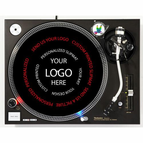 "Personalized Custom Printed Turntable Slipmat 12"" LP Vinyl Record DJ Audiophile"