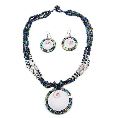 Steel Strand Necklace Earrings Set 18